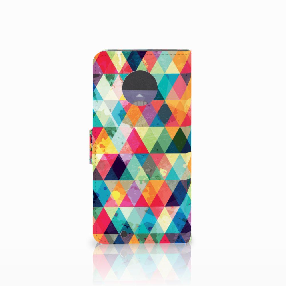 Motorola Moto G6 Telefoon Hoesje Geruit