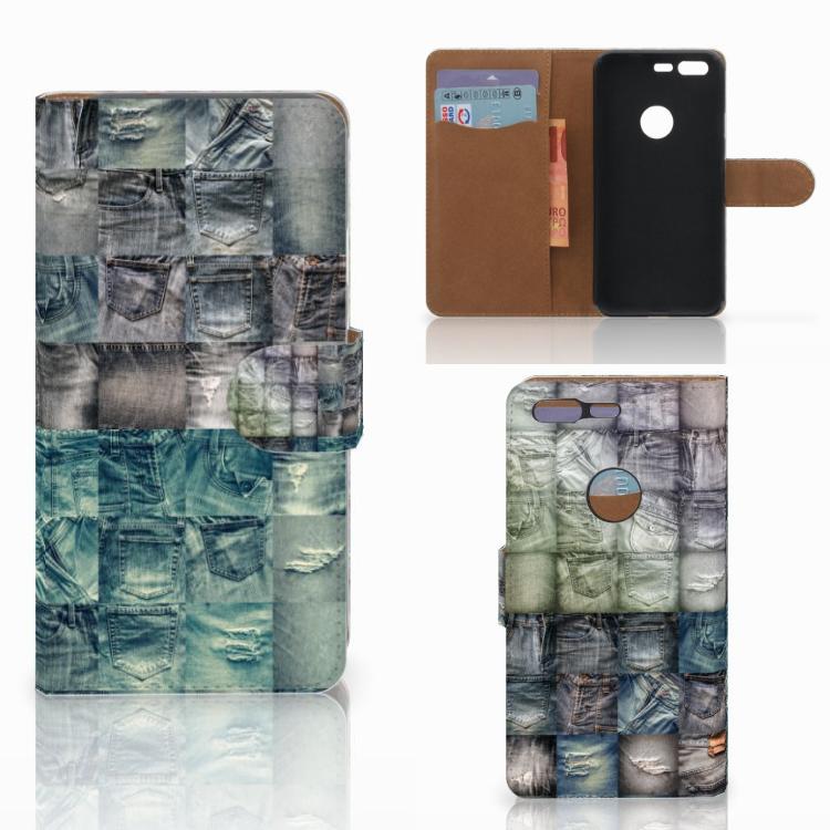 Wallet Case met Pasjes Google Pixel Spijkerbroeken