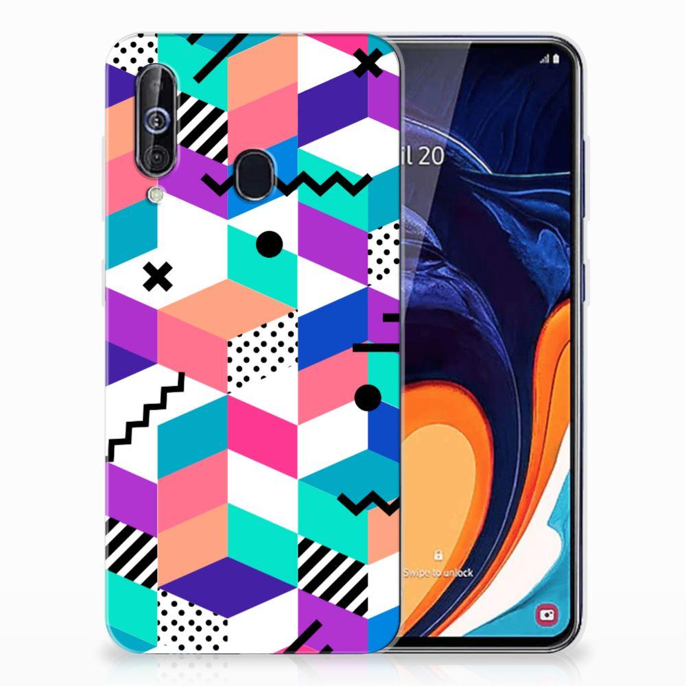 Samsung Galaxy A60 TPU Hoesje Blokken Kleurrijk