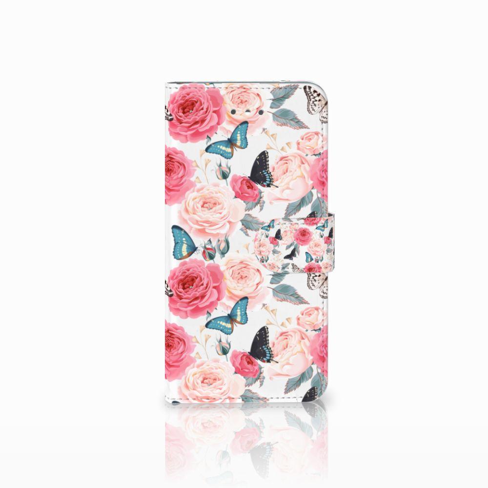 LG Nexus 5X Uniek Boekhoesje Butterfly Roses
