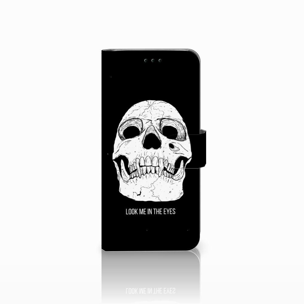 Samsung Galaxy J6 2018 Uniek Boekhoesje Skull Eyes