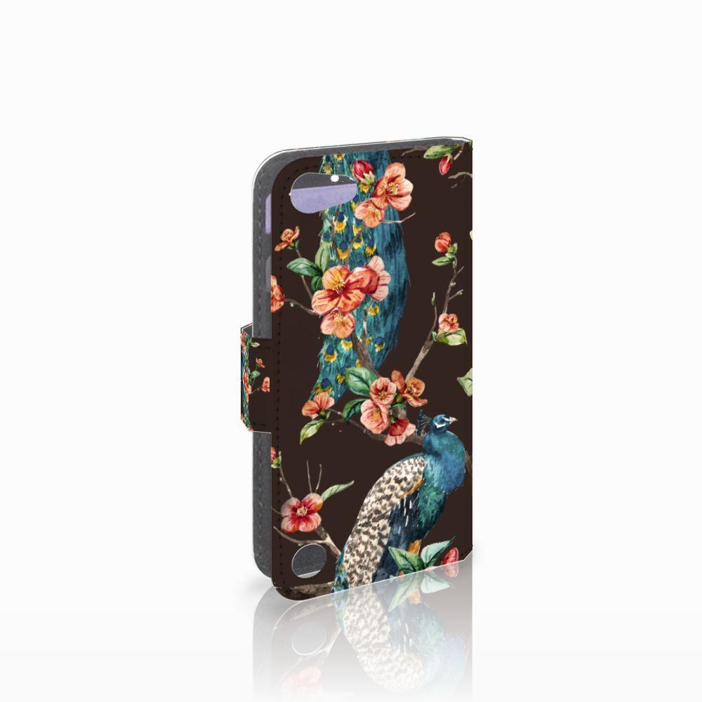 Apple iPod Touch 5   6 Boekhoesje Design Pauw met Bloemen