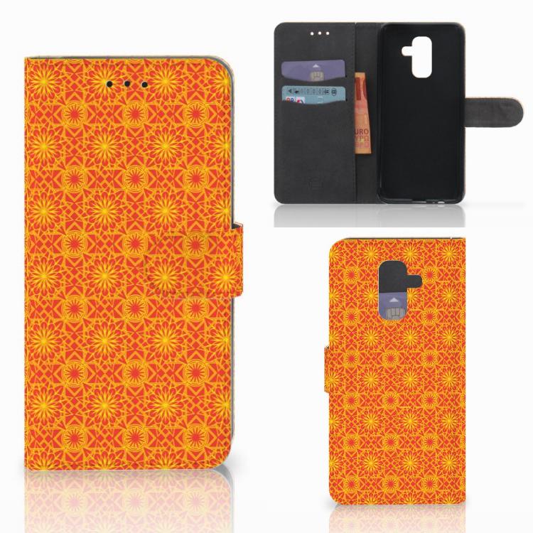 Samsung Galaxy A6 Plus 2018 Telefoon Hoesje Batik Oranje