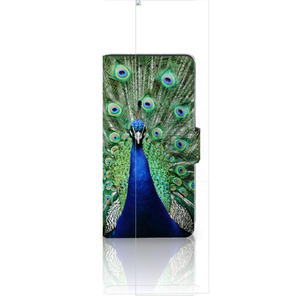 Huawei Ascend P8 Lite Telefoonhoesje met Pasjes Pauw