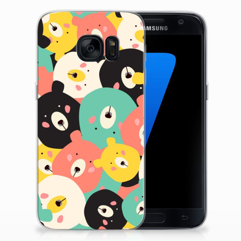 Samsung Galaxy S7 Telefoonhoesje met Naam Bears