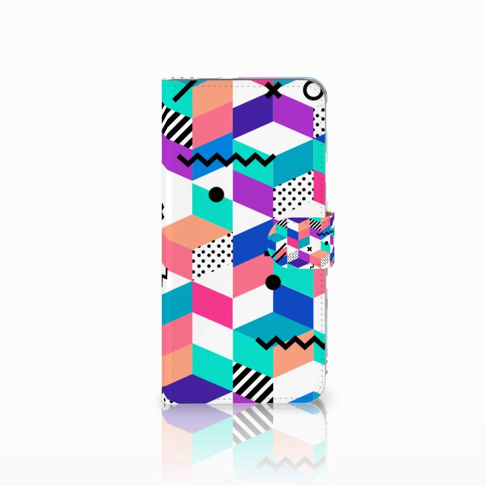 Google Pixel XL Boekhoesje Design Blocks Colorful