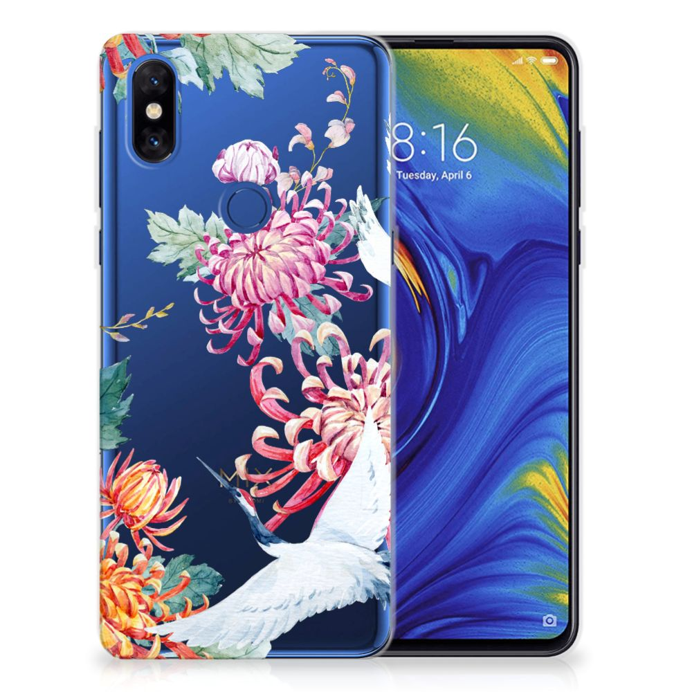 Xiaomi Mi Mix 3 TPU Hoesje Bird Flowers