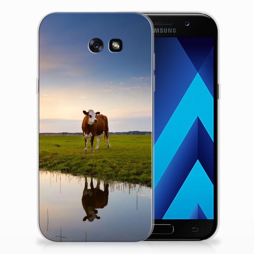 Samsung Galaxy A7 2017 TPU Hoesje Design Koe