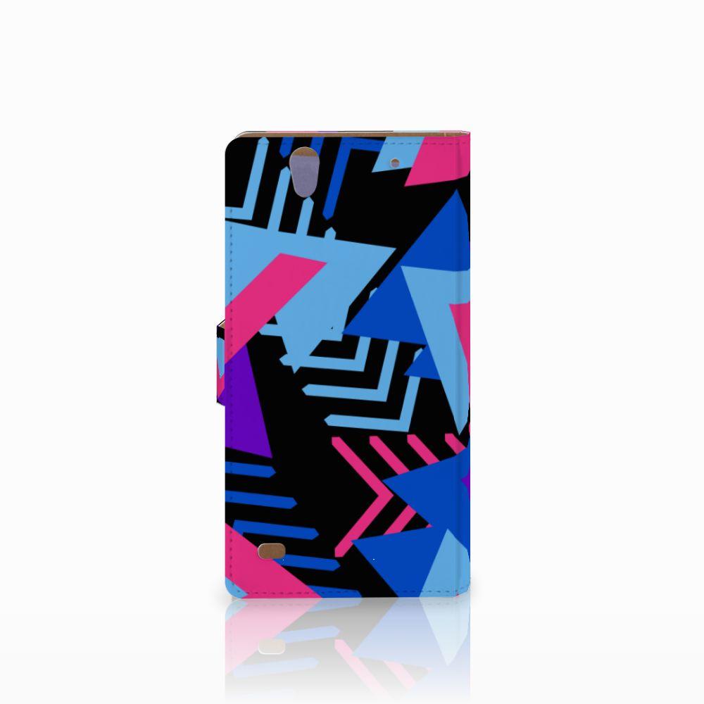 Sony Xperia C4 Bookcase Funky Triangle