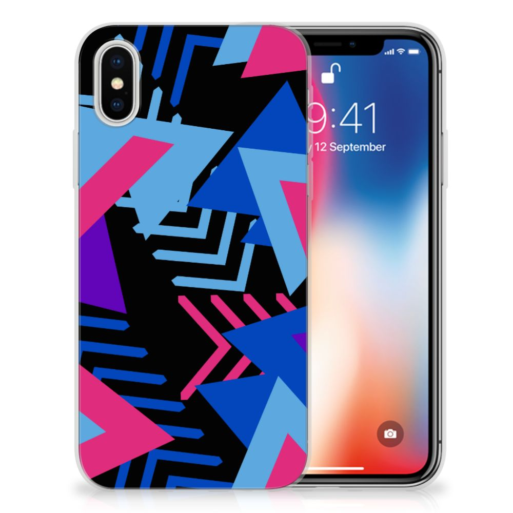Apple iPhone X | Xs TPU Hoesje Design Funky Triangle