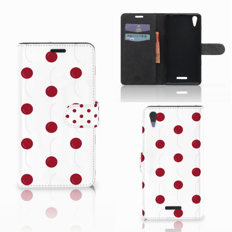 Sony Xperia T3 Book Cover Cherries