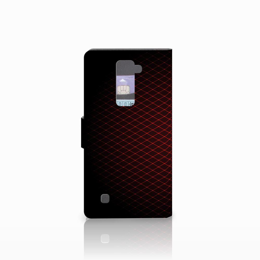 LG K10 2015 Telefoon Hoesje Geruit Rood