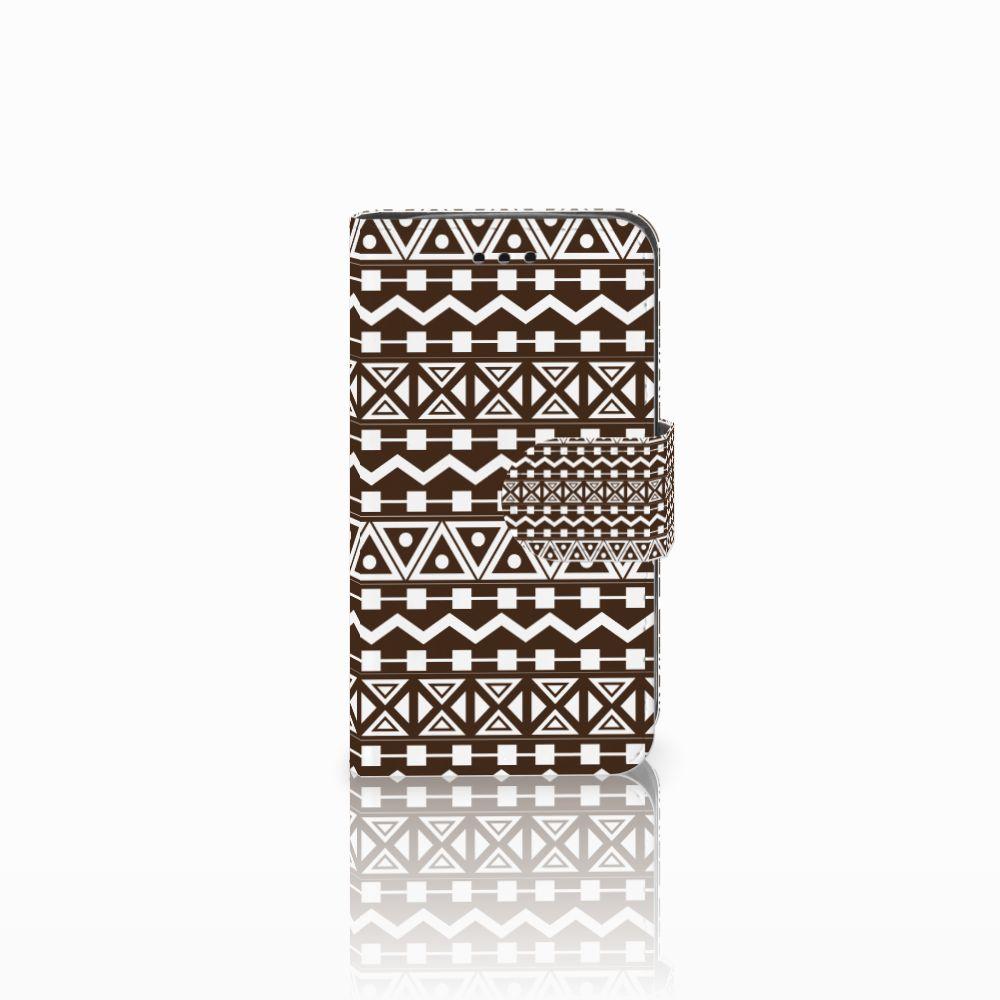 Samsung Galaxy Trend 2 Uniek Boekhoesje Aztec Brown
