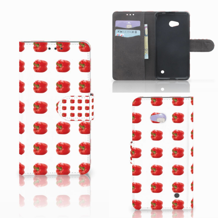 Microsoft Lumia 640 Book Cover Paprika Red
