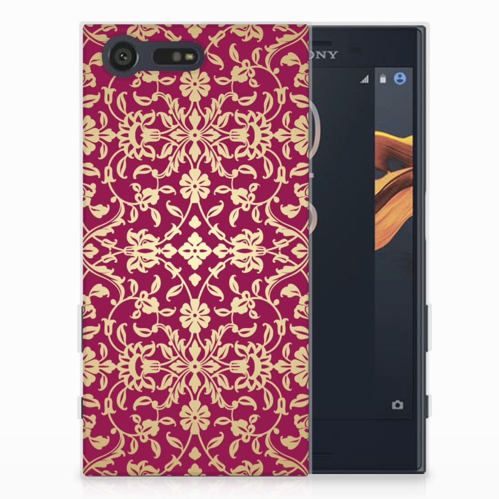 Siliconen Hoesje Sony Xperia X Compact Barok Pink