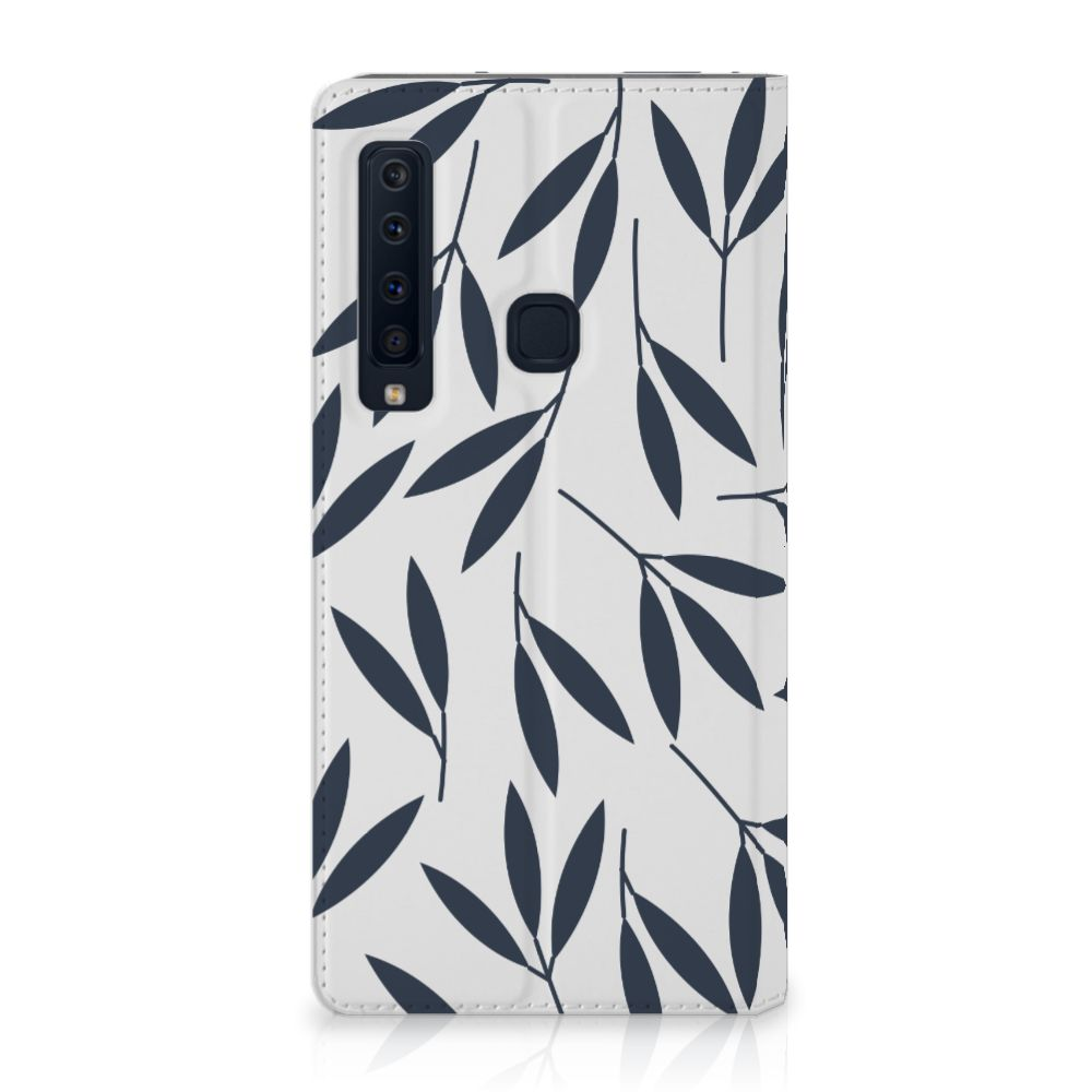 Samsung Galaxy A9 (2018) Standcase Hoesje Design Leaves Blue