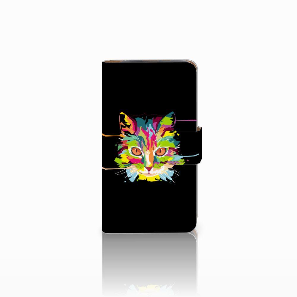 HTC Desire 310 Uniek Boekhoesje Cat Color