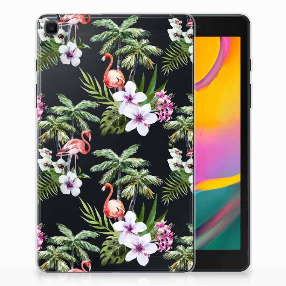 Samsung Galaxy Tab A 8.0 (2019) Back Case Flamingo Palms