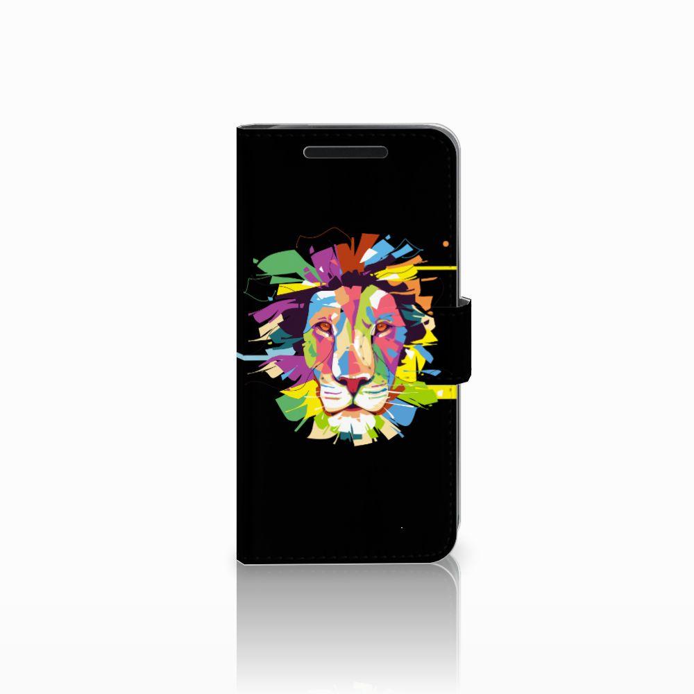 HTC One M9 Uniek Boekhoesje Lion Color