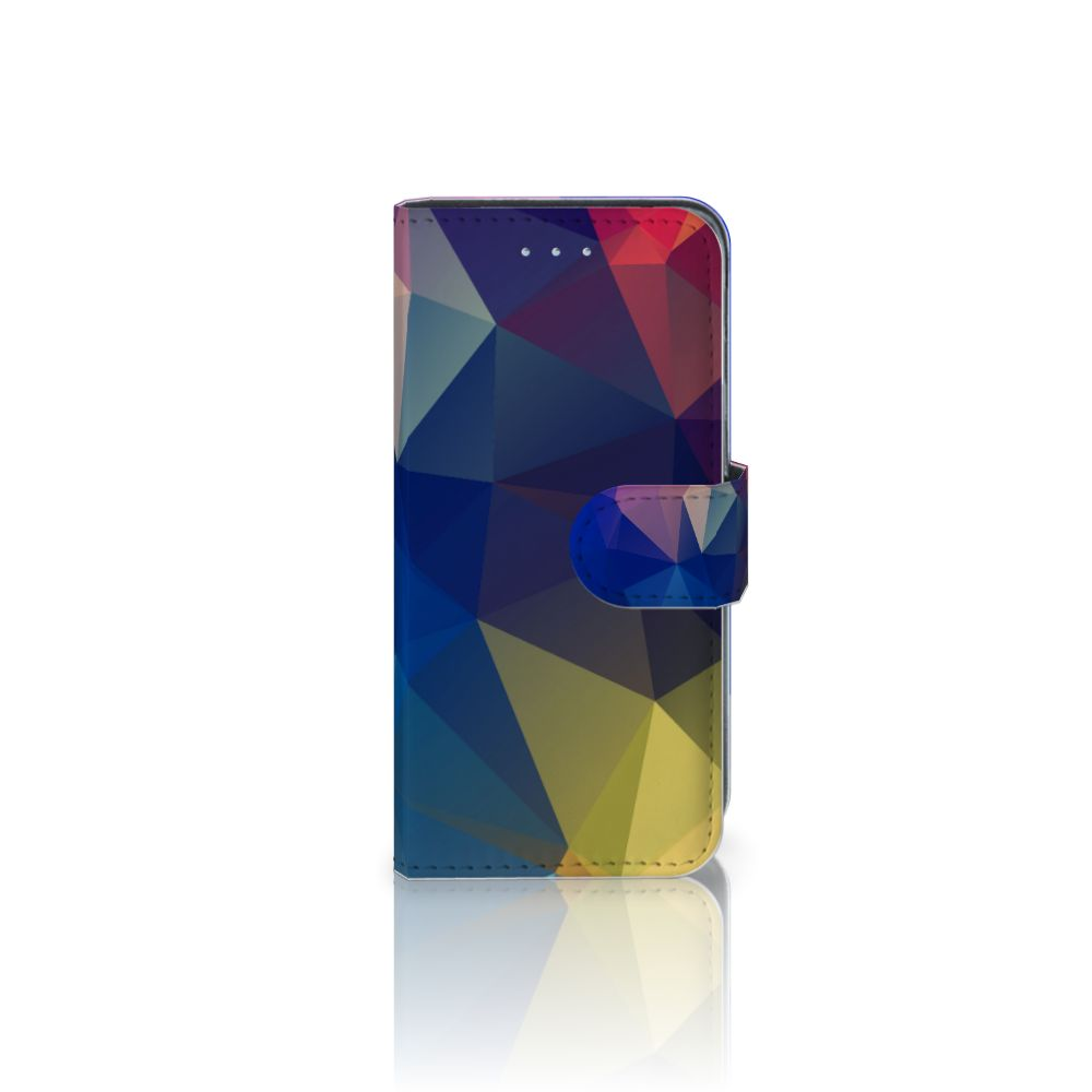 Samsung Galaxy A5 2016 Uniek Boekhoesje Polygon Dark
