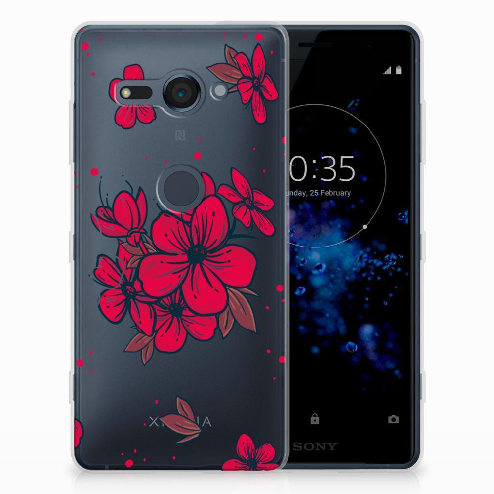 Sony Xperia XZ2 Compact TPU Hoesje Design Blossom Red