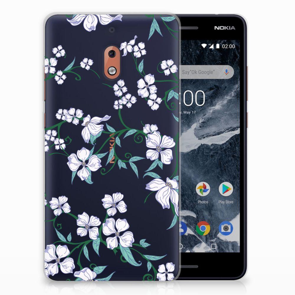 Nokia 2.1 (2018) Uniek TPU Hoesje Blossom White