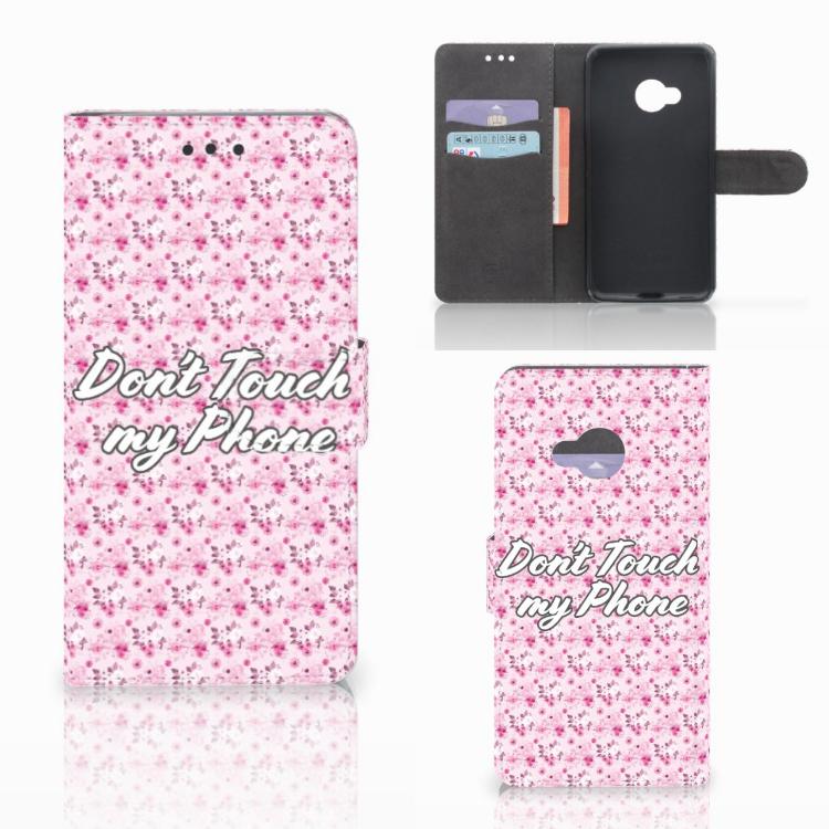 HTC U Play Portemonnee Hoesje Flowers Pink DTMP