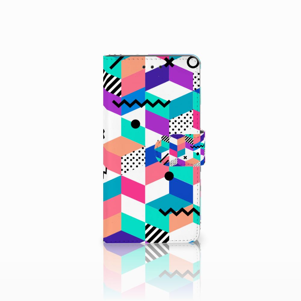 Huawei G8 Boekhoesje Design Blocks Colorful