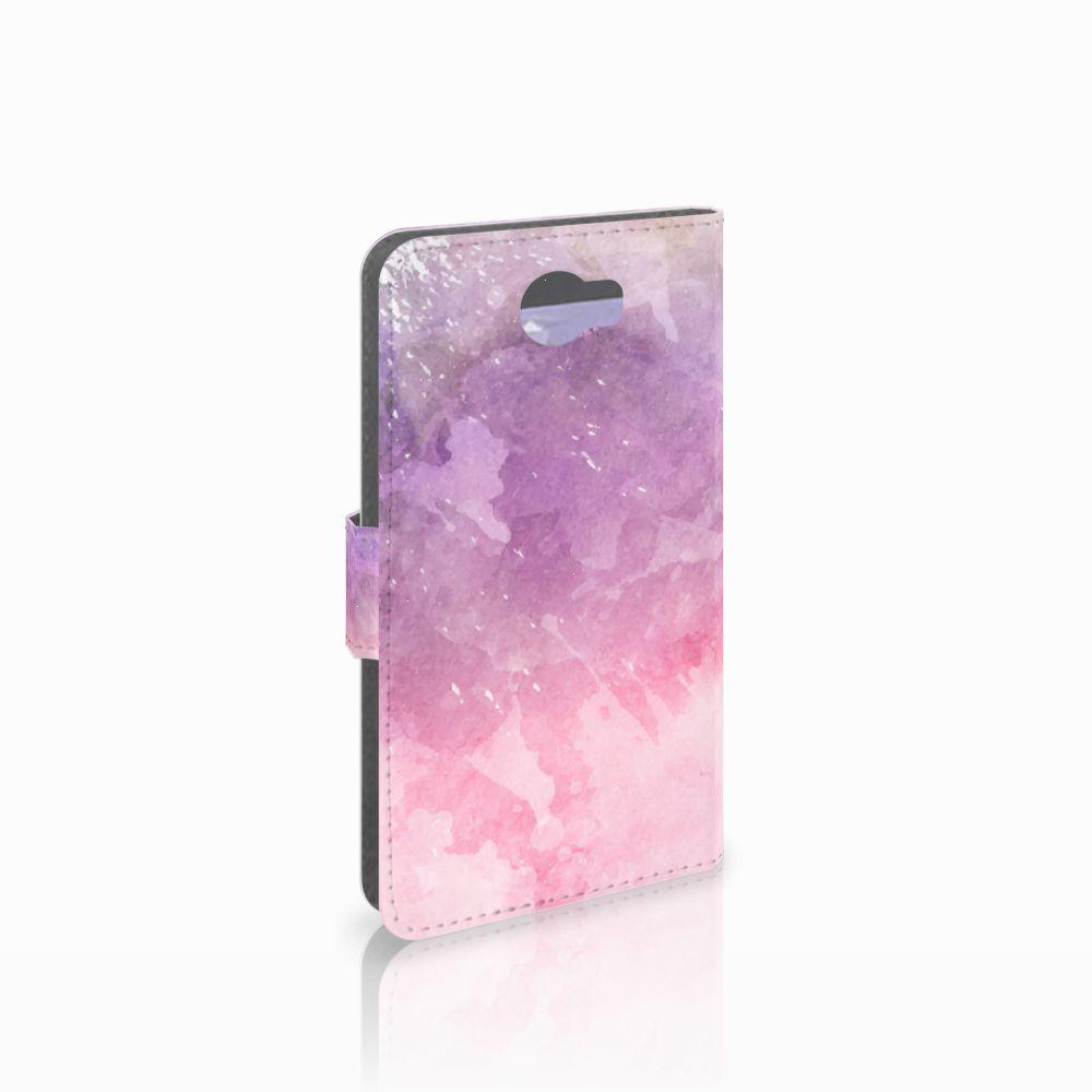 Huawei Y5 2 | Y6 II Compact Boekhoesje Design Pink Purple Paint