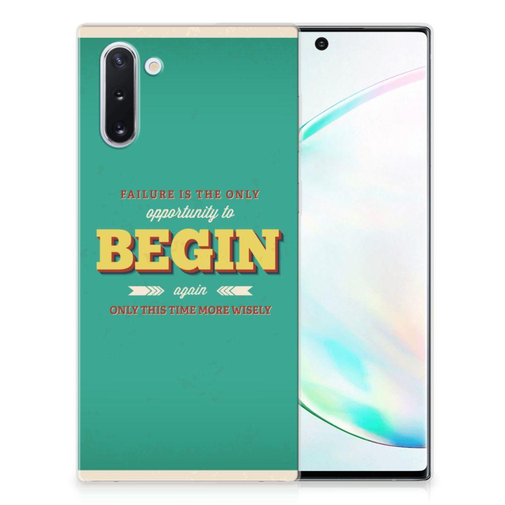 Samsung Galaxy Note 10 Siliconen hoesje met naam Quote Begin