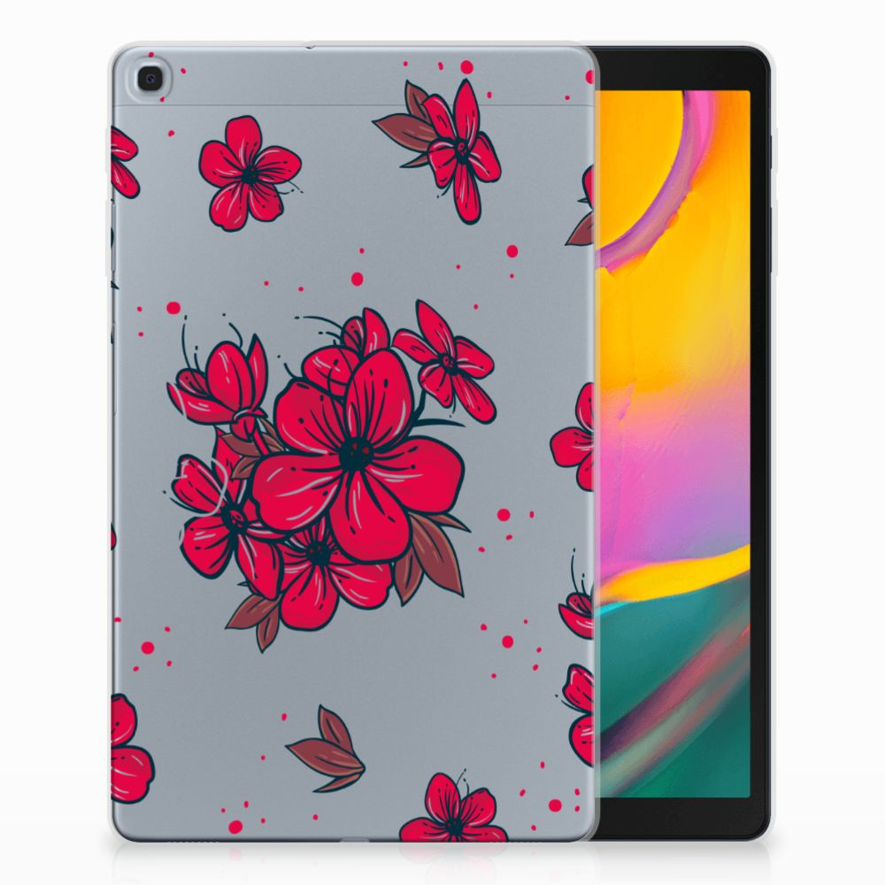 Samsung Galaxy Tab A 10.1 (2019) Tablethoesje Design Blossom Red