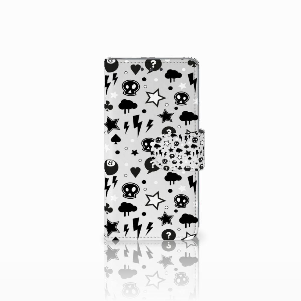 Samsung Galaxy A3 2015 Uniek Boekhoesje Silver Punk
