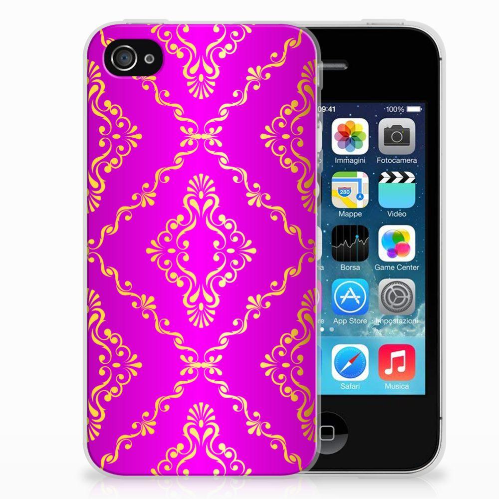 Apple iPhone 4 | 4s Uniek TPU Hoesje Barok Roze