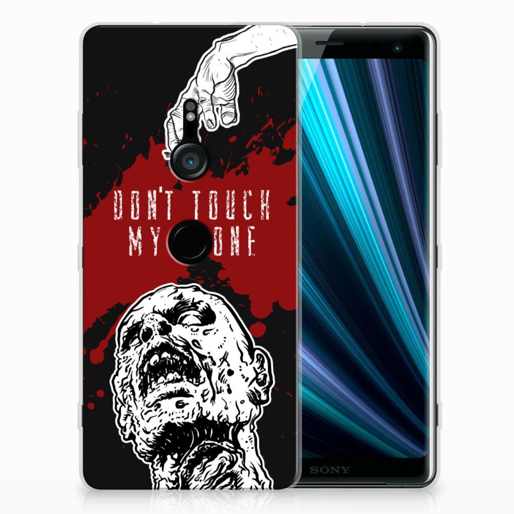 Sony Xperia XZ3 TPU Hoesje Design Zombie Blood