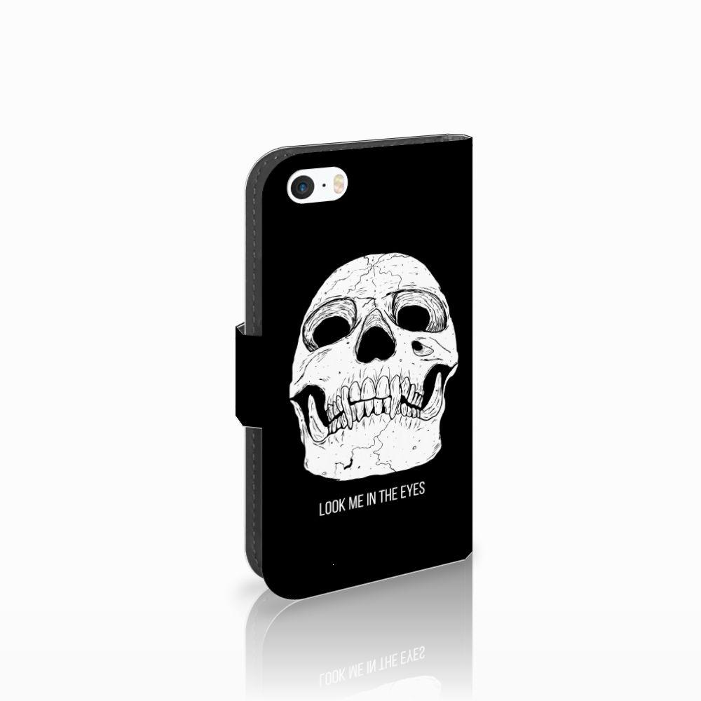 Apple iPhone 5 | 5s | SE Uniek Boekhoesje Skull Eyes