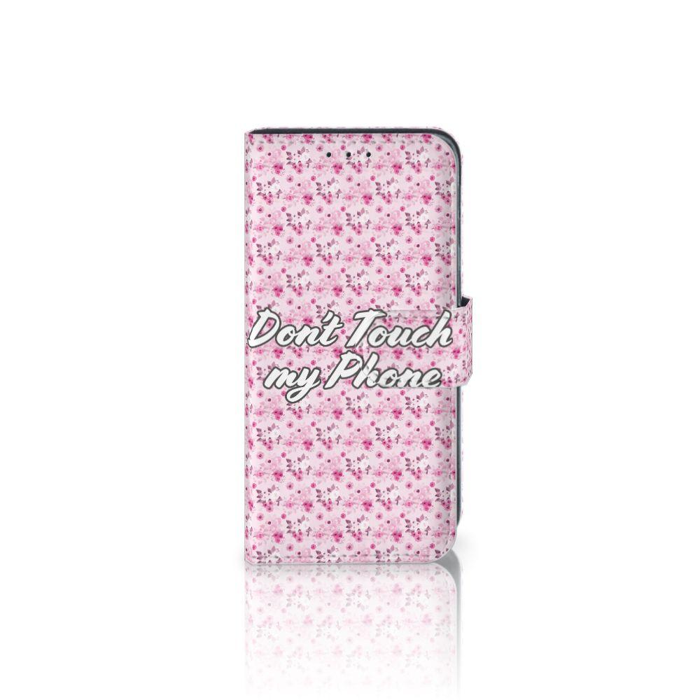 Samsung Galaxy J3 (2018) Uniek Boekhoesje Flowers Pink DTMP