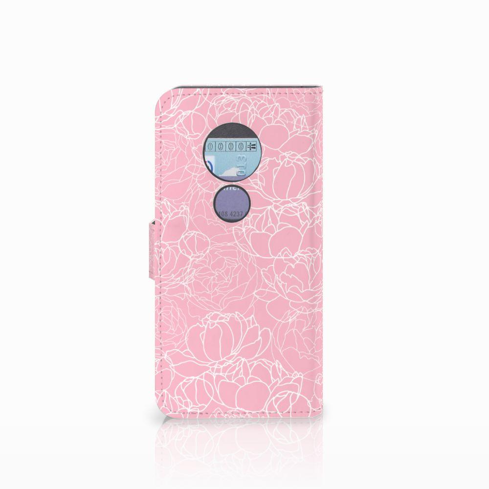 Motorola Moto G6 Play Wallet Case White Flowers