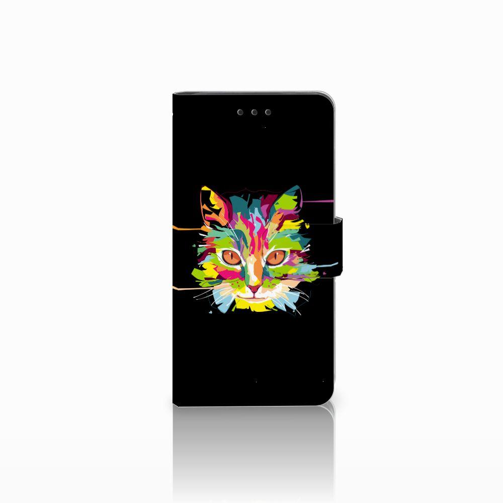 Huawei G8 Uniek Boekhoesje Cat Color