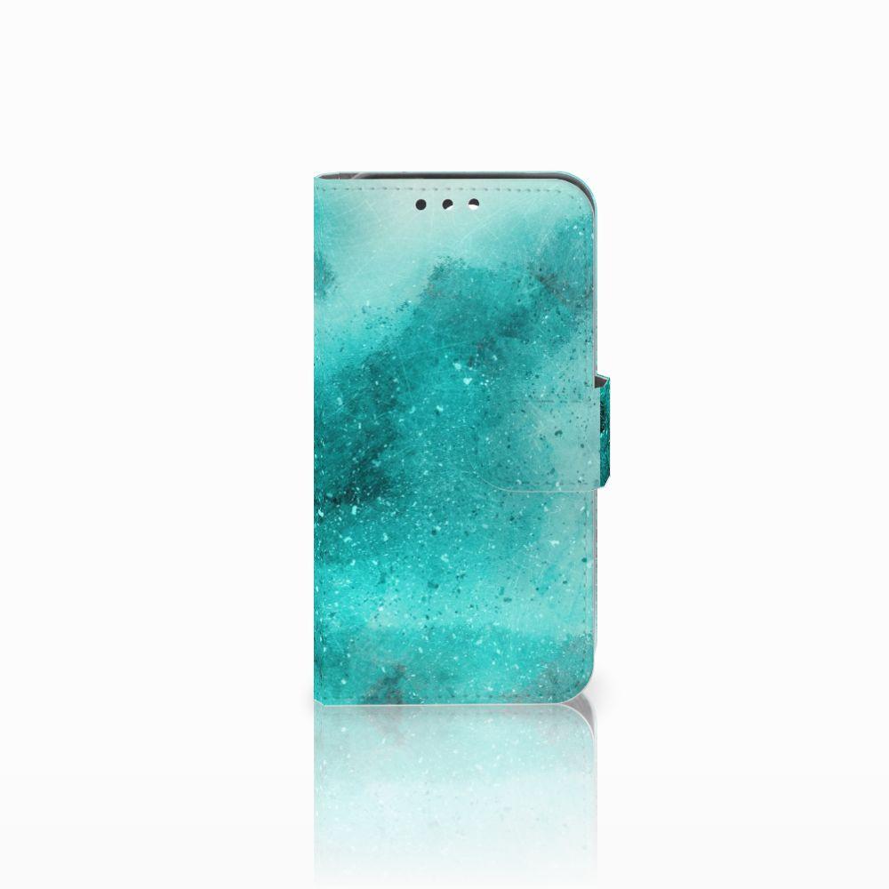 Huawei Y5 Y560 Uniek Boekhoesje Painting Blue