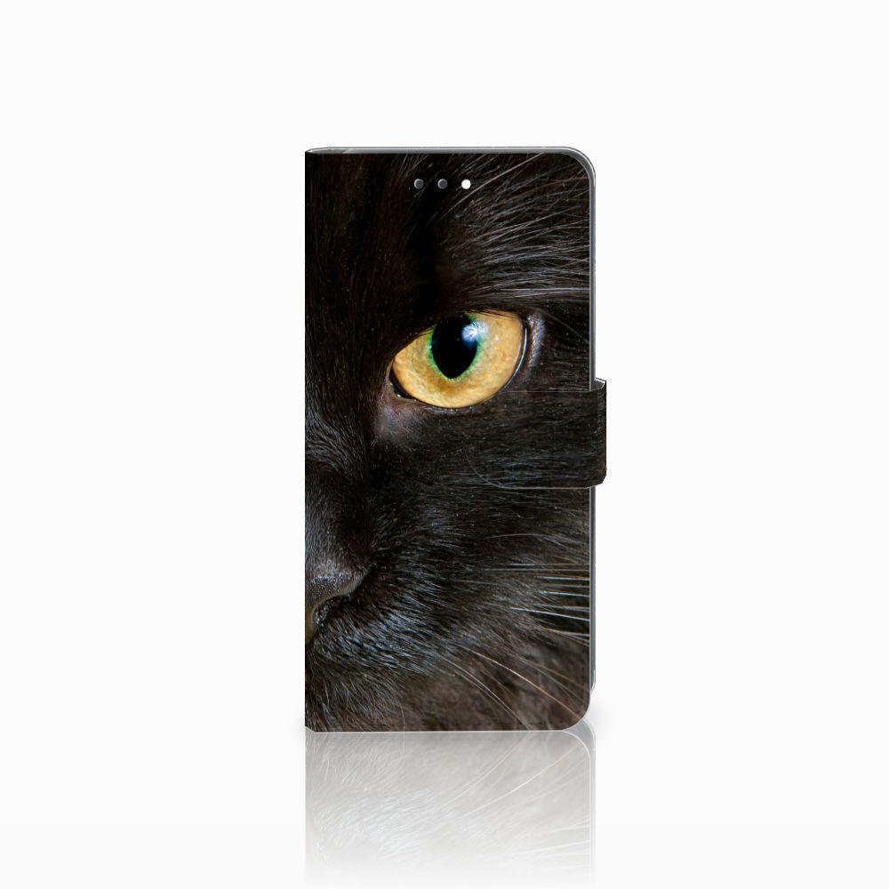 Huawei Y7 2018 Uniek Boekhoesje Zwarte Kat