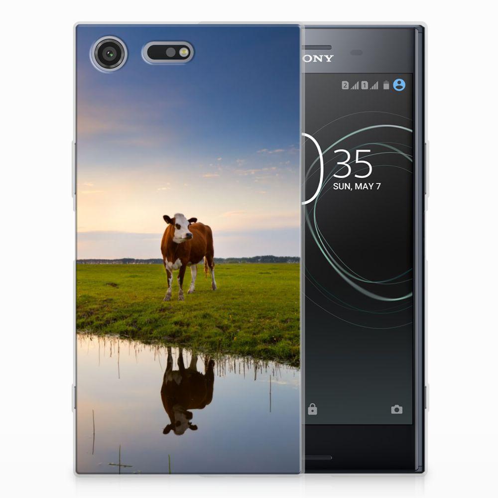 Sony Xperia XZ Premium TPU Hoesje Design Koe