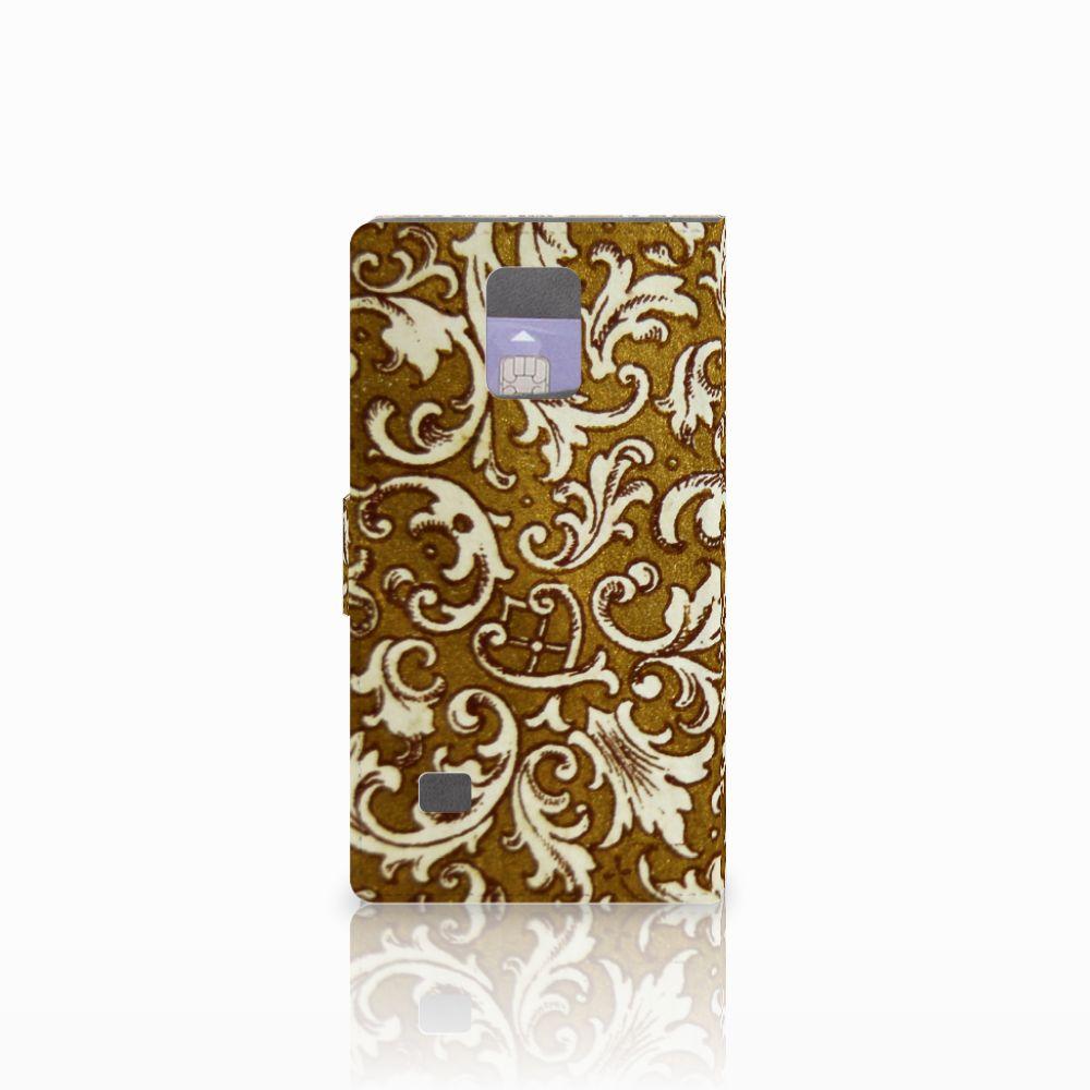 Wallet Case Samsung Galaxy Note 4 Barok Goud