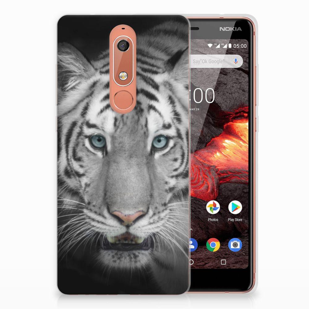 Nokia 5.1 (2018) TPU Hoesje Tijger