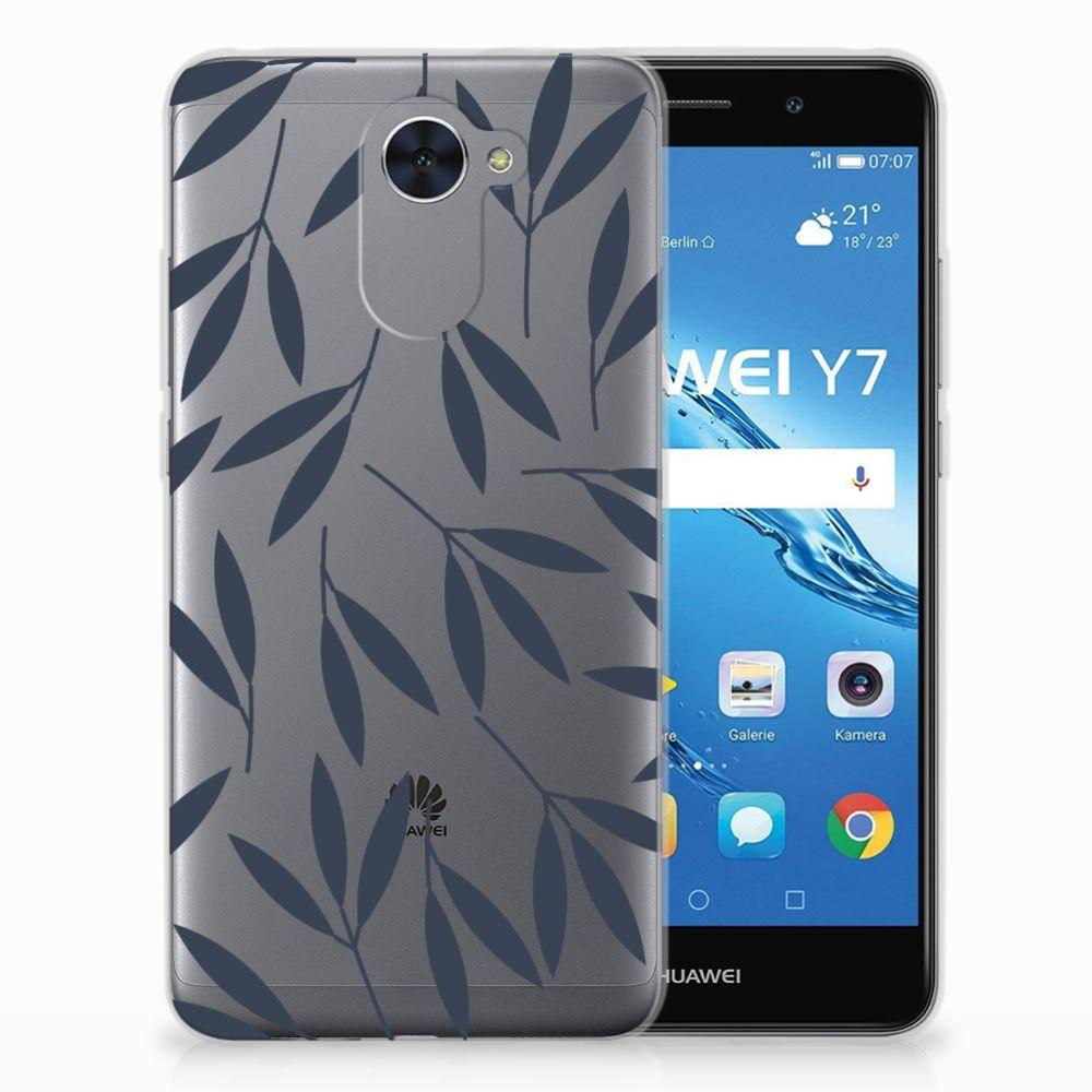 Huawei Y7 (2017) | Y7 Prime (2017) TPU Case Leaves Blue