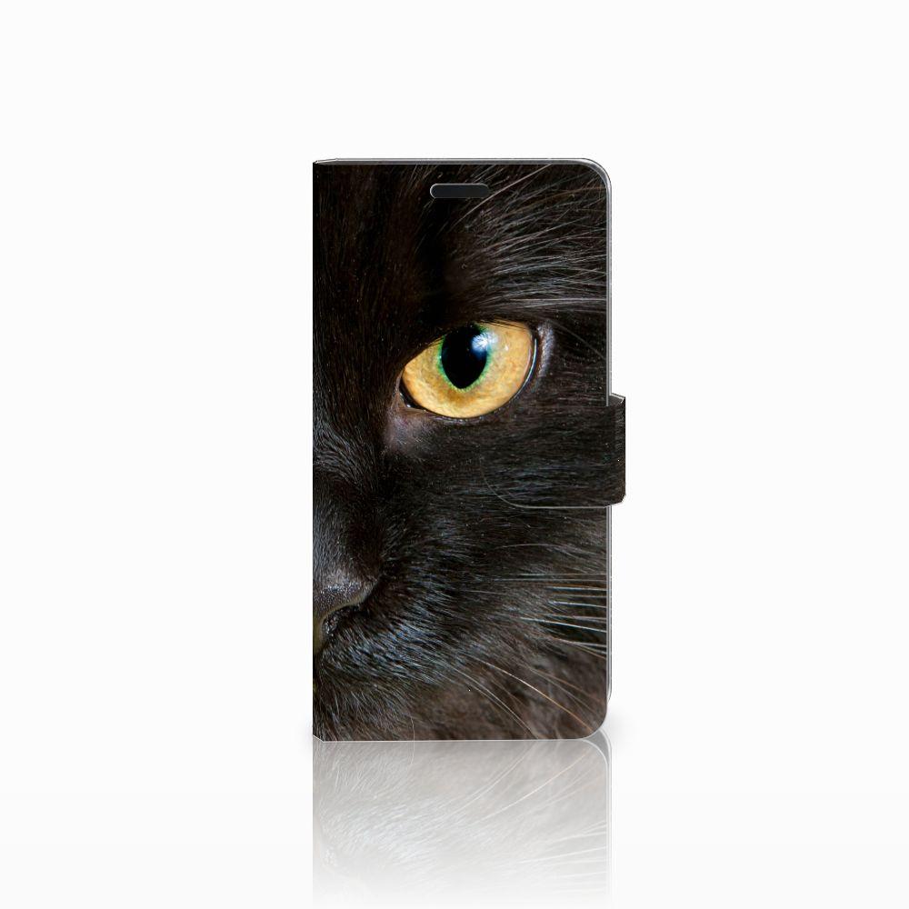 HTC Desire 530 Uniek Boekhoesje Zwarte Kat