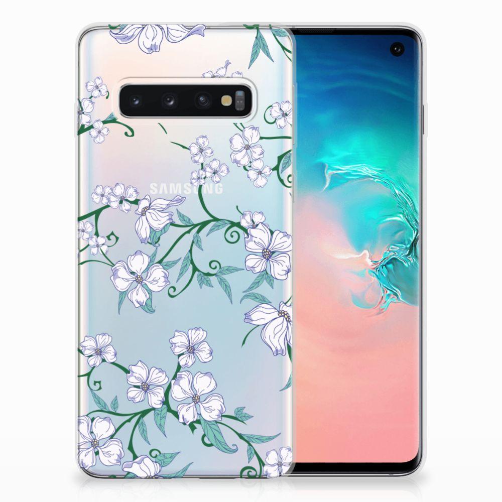 Samsung Galaxy S10 Uniek TPU Hoesje Blossom White