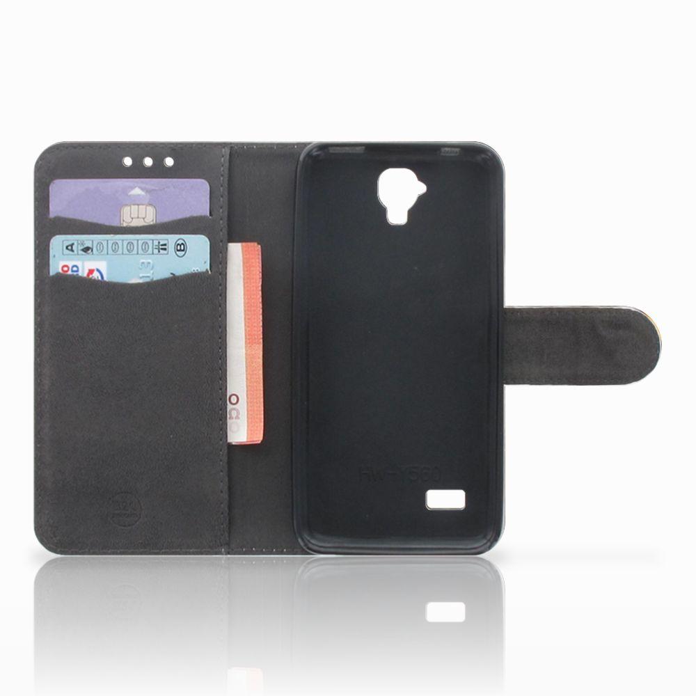 Telefoonhoesje met Pasjes Huawei Y5 Y560 Britse Korthaar