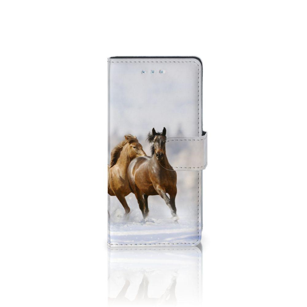 Huawei P9 Lite Uniek Boekhoesje Paarden