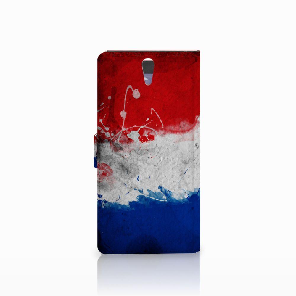 Sony Xperia C5 Ultra Bookstyle Case Nederlandse Vlag