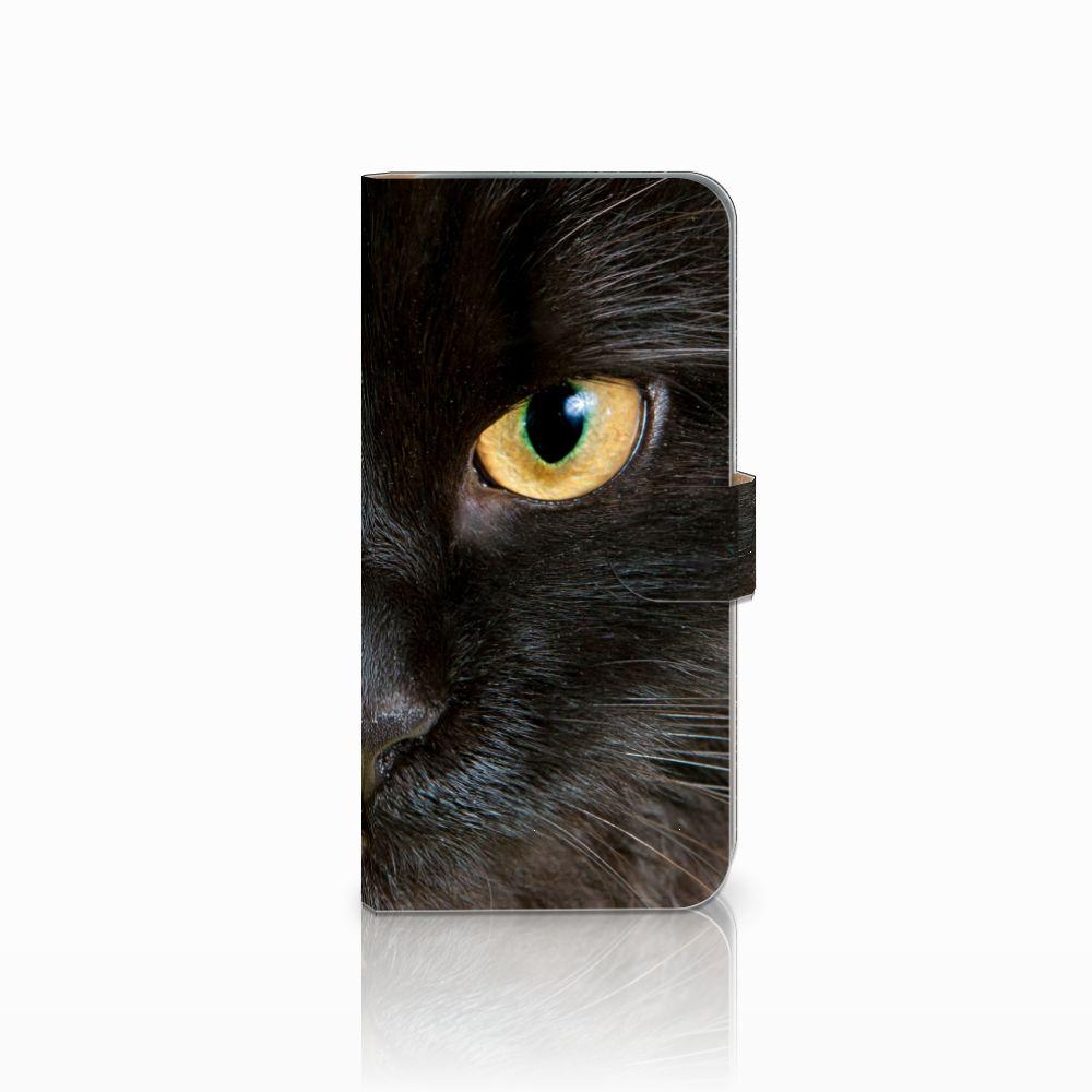 HTC Desire 10 Pro Uniek Boekhoesje Zwarte Kat